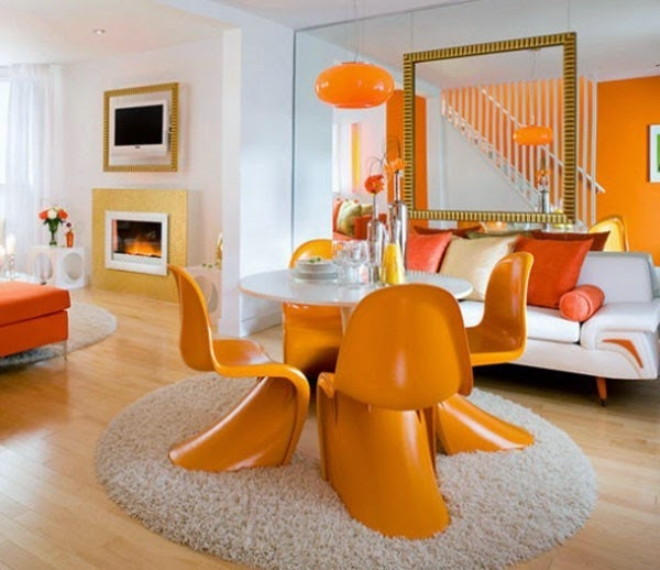 Fotos de comedores color naranja  Colores en Casa