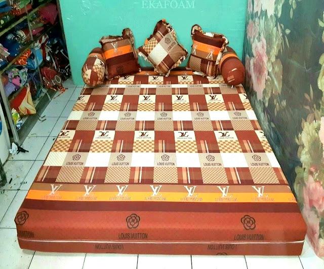 Sofa bed inoac motif new LV atau elve coklat