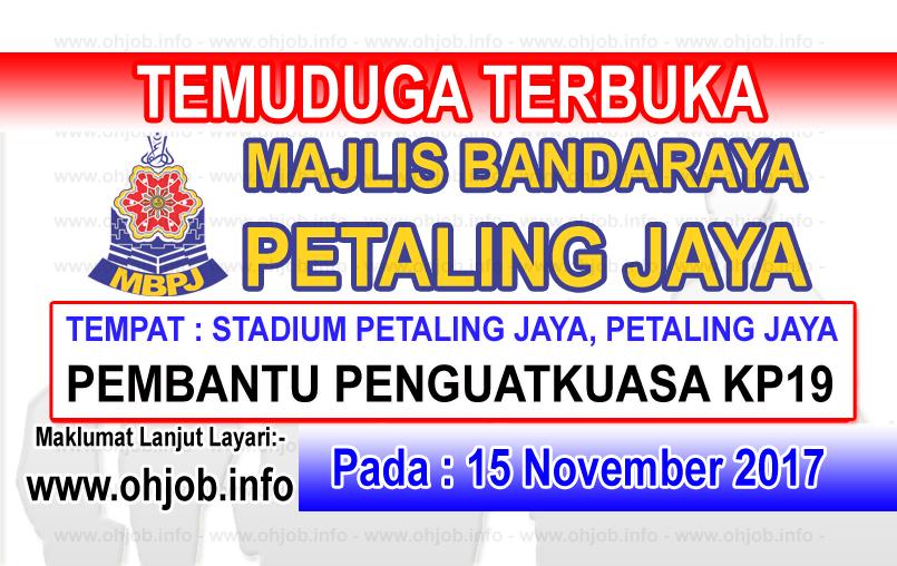 Jawatan Kerja Kosong MBPJ - Majlis Bandaraya Petaling Jaya logo www.ohjob.info november 2017