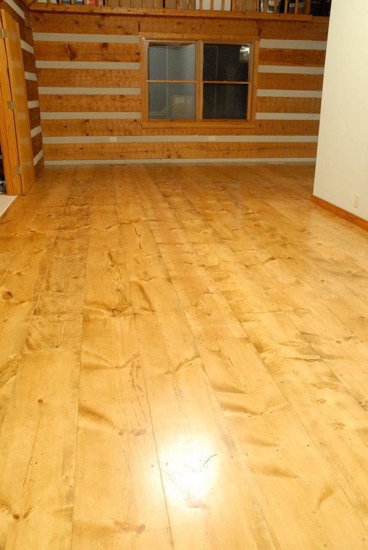 Hood Creek Log Cabin: DIY Wide Plank Pine Floors [Part 2