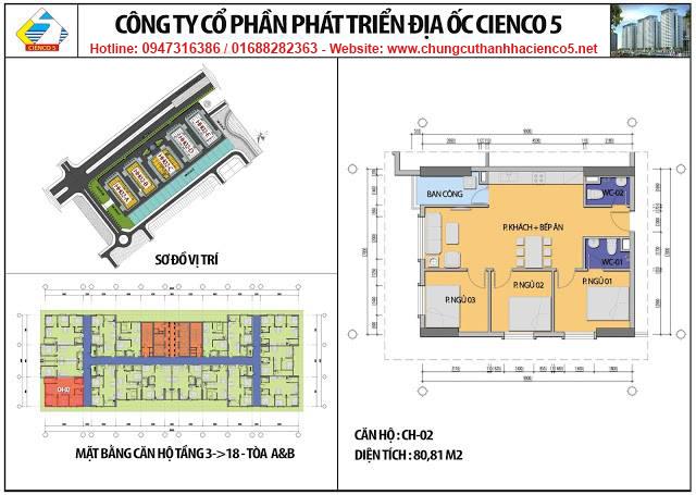 Sơ đồ thiết kế căn 02 chung cư B2.1 HH02 Thanh Hà Cienco 5