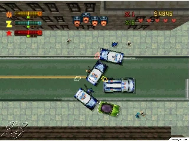 2X Gamer: ->Grand Theft Auto II Size Game 51 MB (PS1/PSX)