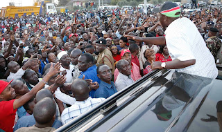 William Ruto promising goodies in Emali, Makueni. PHOTO > PSCU