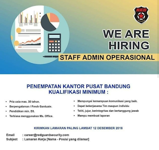 Lowongan Kerja Red Guard Security Bandung 2019 Banyak Posisi