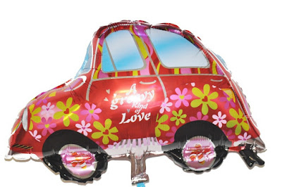 Balon Foil Wedding Car