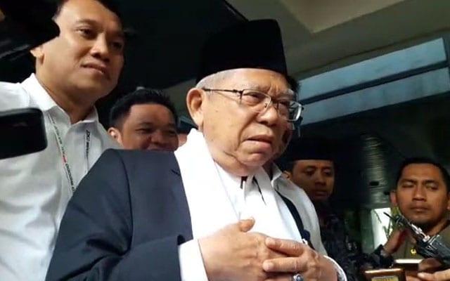 Ma'ruf Amin yang Menyayangkan Masjid Dipakai untuk Memaki dan Sebar Hoaks