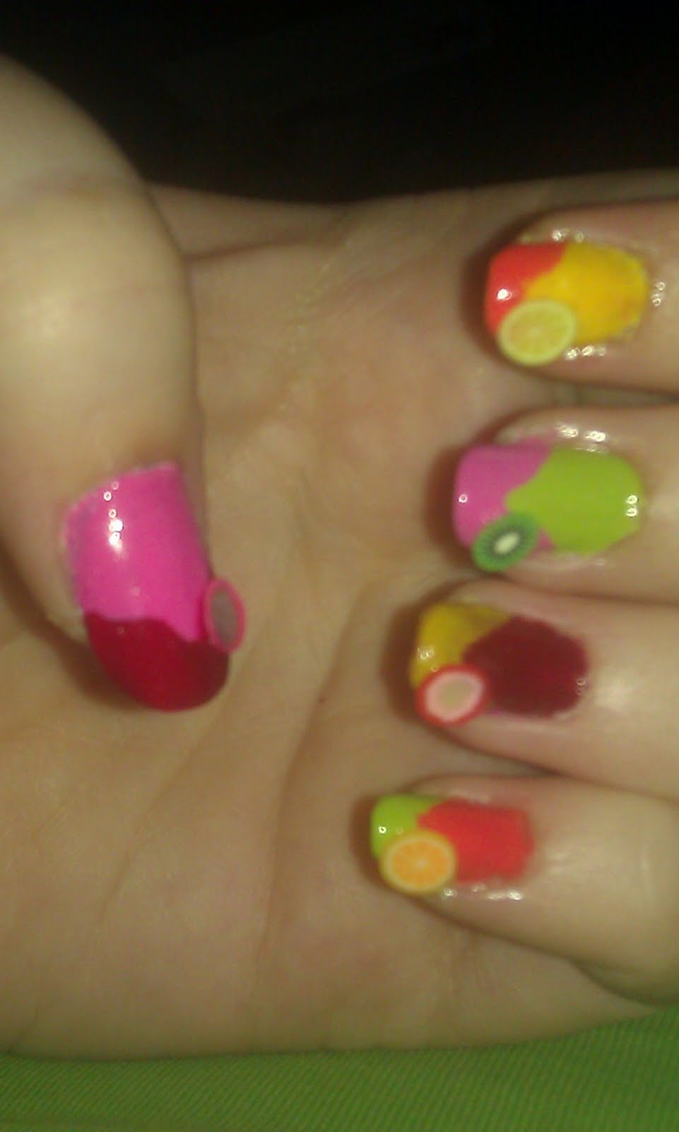 Tropical Fruits Manicure…Including the Fruits!