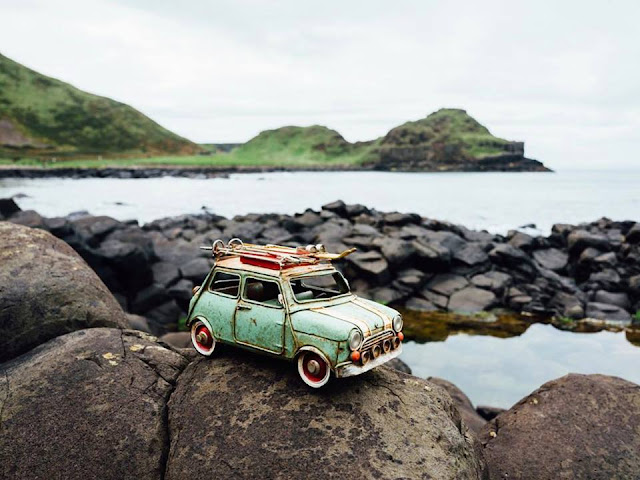 Pequeñas grandes historias, hermosas fotografías con autos miniatura