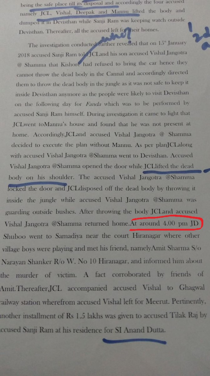 #KathuaKaSatya : According to JK police, Vishal had fixed the distance of 580 kms in 53 minutes and committed crime with Asifa