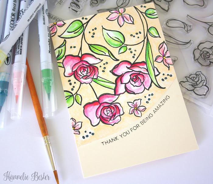 Altenew June inspiration challenge using Amazing you stamp set