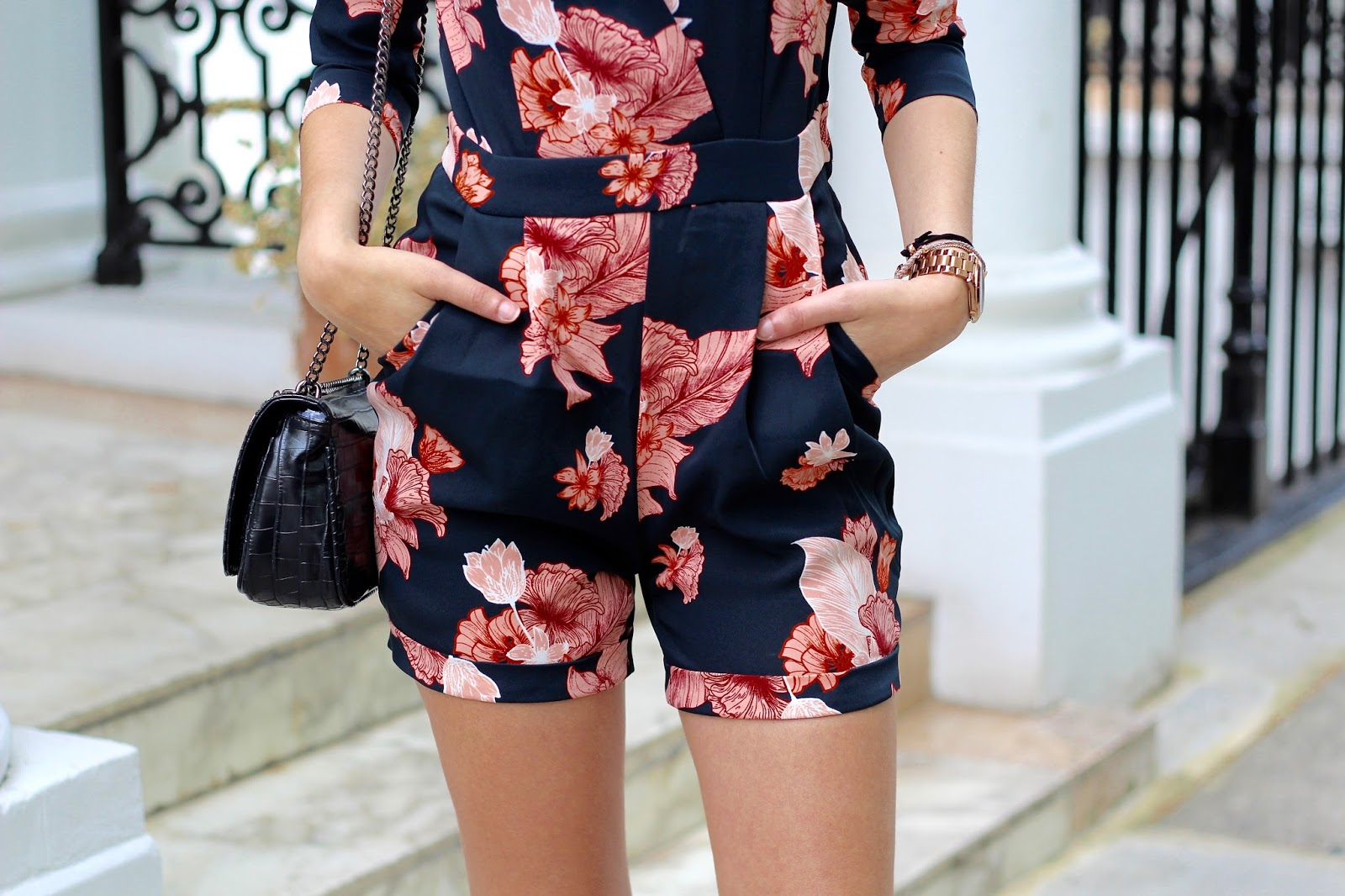 spring floral style playsuit