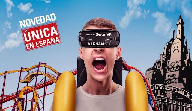 Montaña Rusa de Warner con realidad virtual