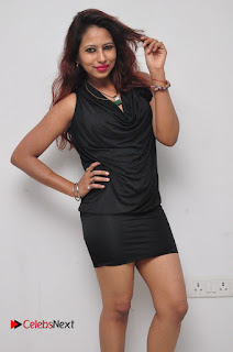 Model Sonia Pictures in Black Dress at Yes Mart Event  0011
