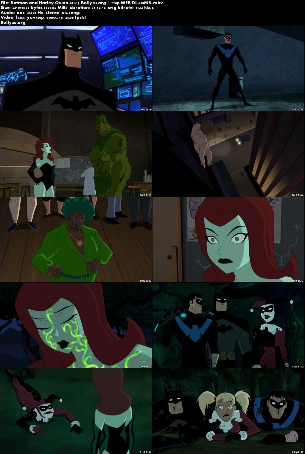Batman and Harley Quinn 2017 WEB-DL 600Mb English 720p Download