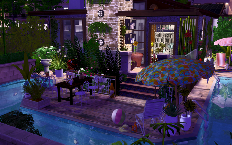 Contemporary Vacation House Sims 4 Houses