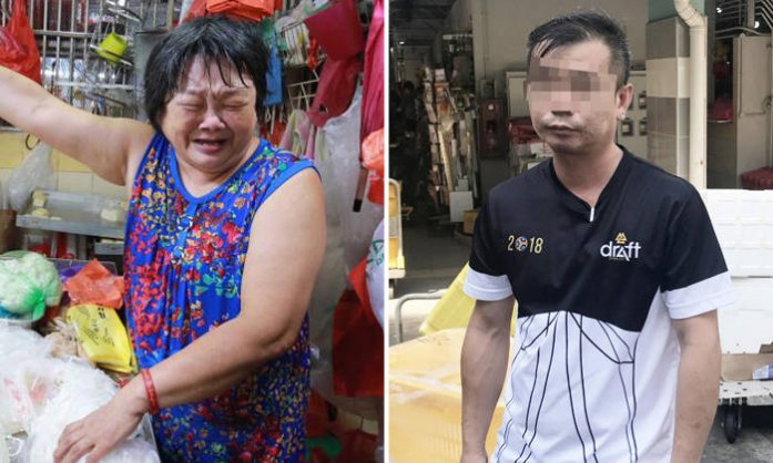 Man beats up tofu auntie from neighbouring stall at Marsiling market after drinking with friends