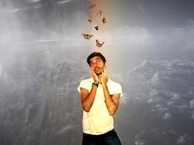 Edito fotografico realizado en photoshop inspirado en el programa de control mental Monarch Programming por la elite por el escritor artista y modelo famoso sir helder amos