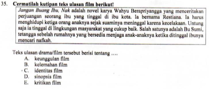 Struktur Teks Ulasan Film Zuhri Indonesia