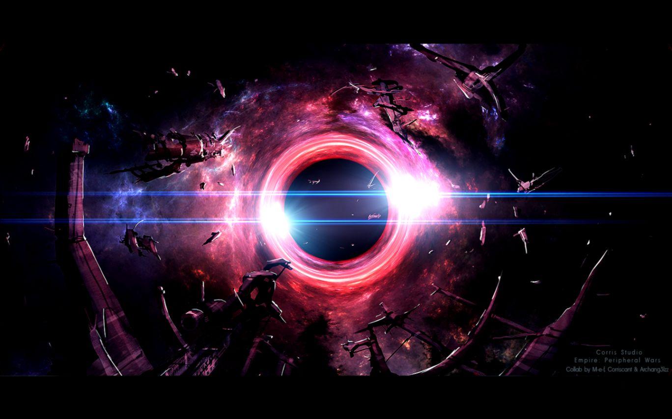 Dreamy Fantasy Black Hole Artwork Wallpaper Background Wallpaper