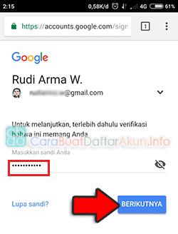 pemulihan kata sandi akun google