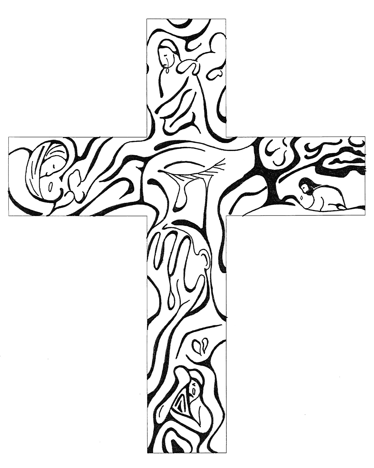 Church Stage Decorating Ideas Easter Art Cross
