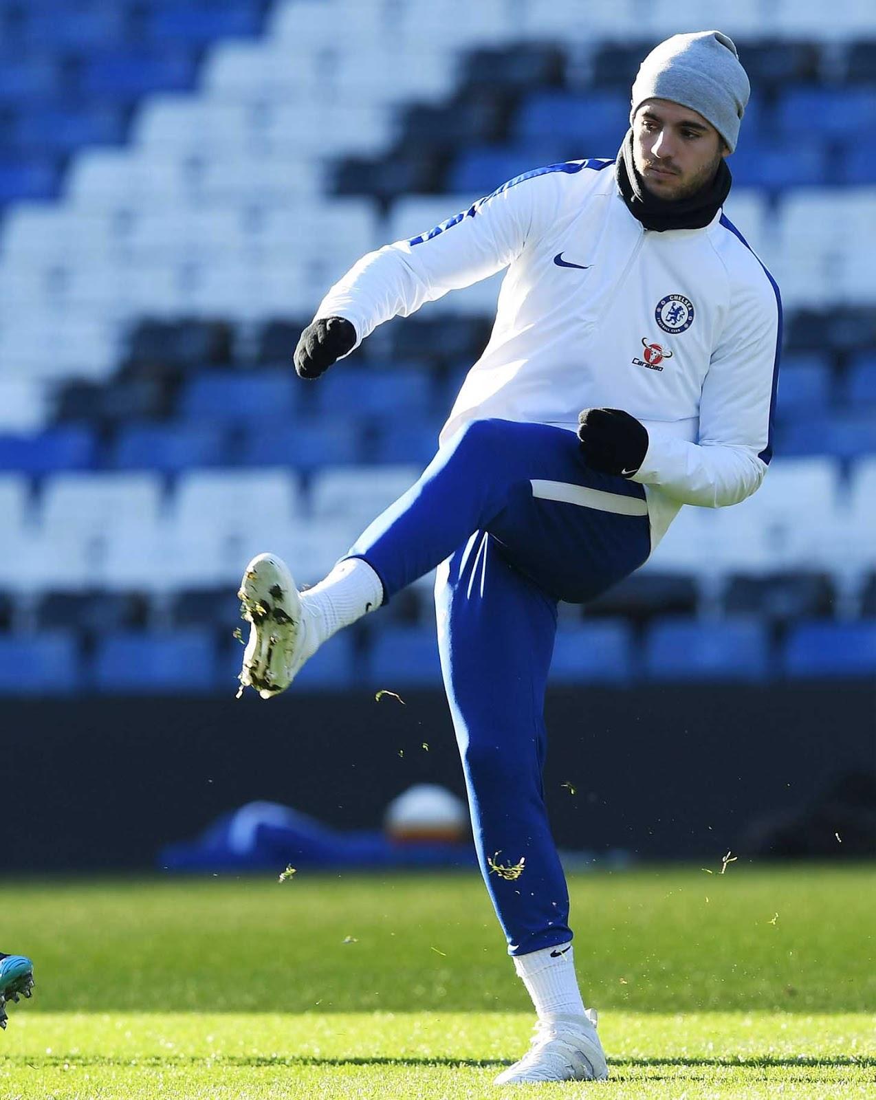 Alvaro Morata Trains in Adidas Predator Accelerator Beckham Boots