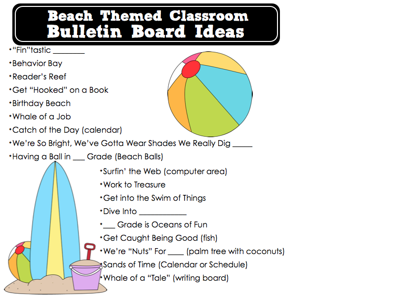 Tropical Luau Themed Classrooms - Clutter-Free Classroom