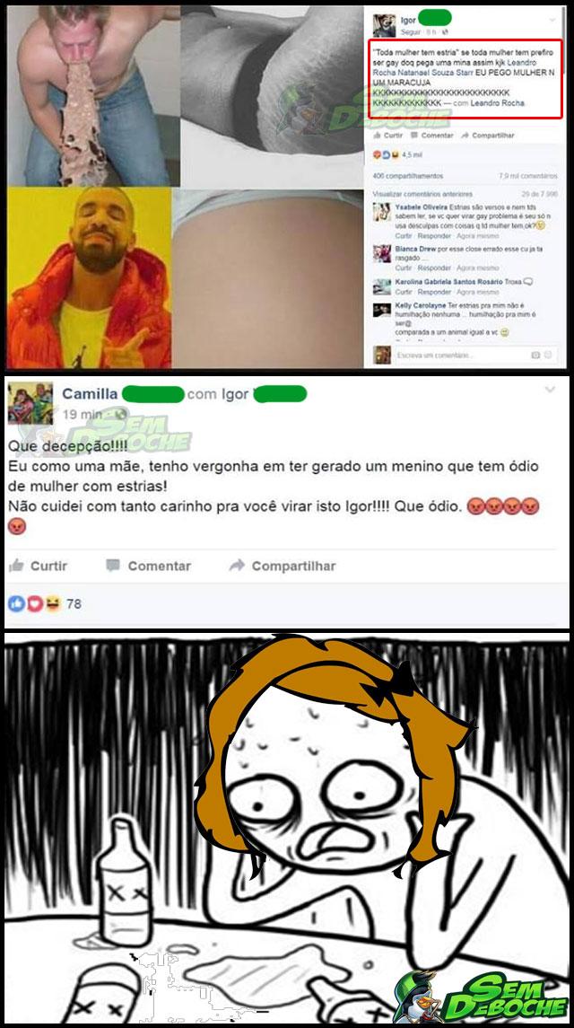 DECEPCIONADA COM O FILHO