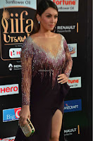 Hansika Motwani in Glittering Deep Neck Transparent Leg Split Purple Gown at IIFA Utsavam Awards 02.JPG