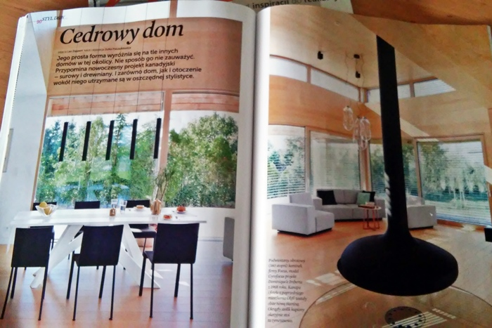 dom drewniany | elle decoration