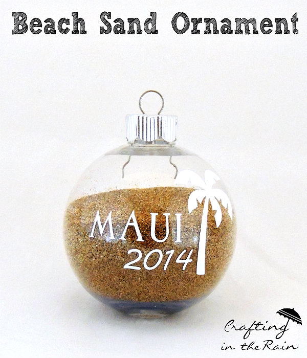 2021 Maui Christmas Ornaments Diy Sand Ornament Craft Lightning Crafting In The Rain