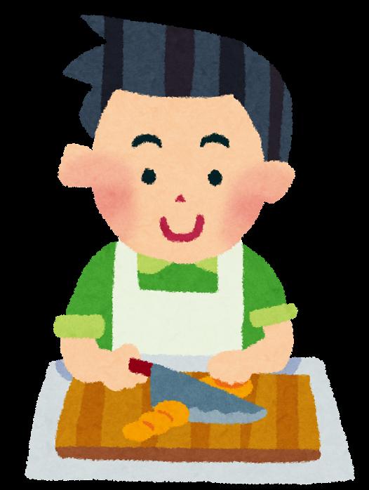 料理のイラスト「男性」 | かわいいフリー素材集 いらすとや