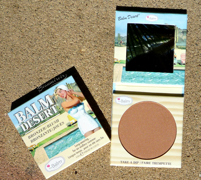 theBalm Balm Desert Bronzer/Blush: retro packaging