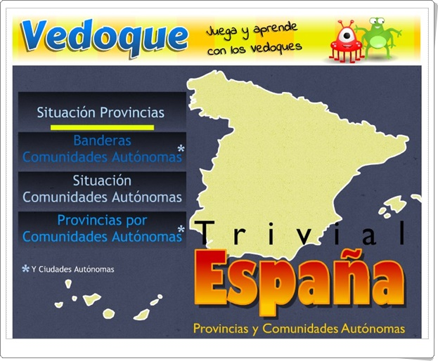 """Trivial España"" (Juegos de Geografía de España)"