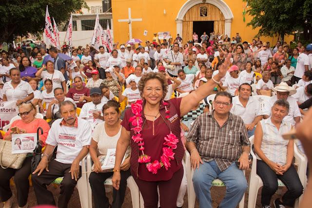 Acapulco, El Treinta a la candidata de Morena, Adela Román