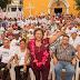 Arropan en El Treinta a la candidata de Morena, Adela Román