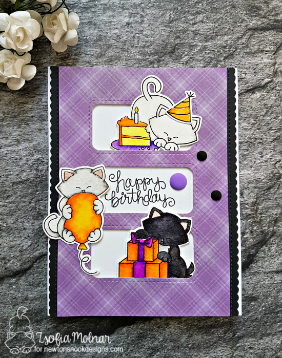 Happy Birthday by Zsofia features Newton Loves Cake and Newton's Birthday Bash by Newton's Nook Designs; #newtonsnook