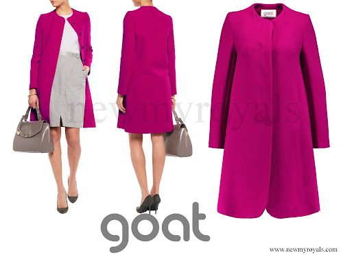 Crown Princess Mary wore GOAT Wool Crepe Coat