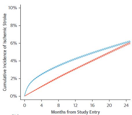 図:ガン宣告のあとの脳卒中リスク