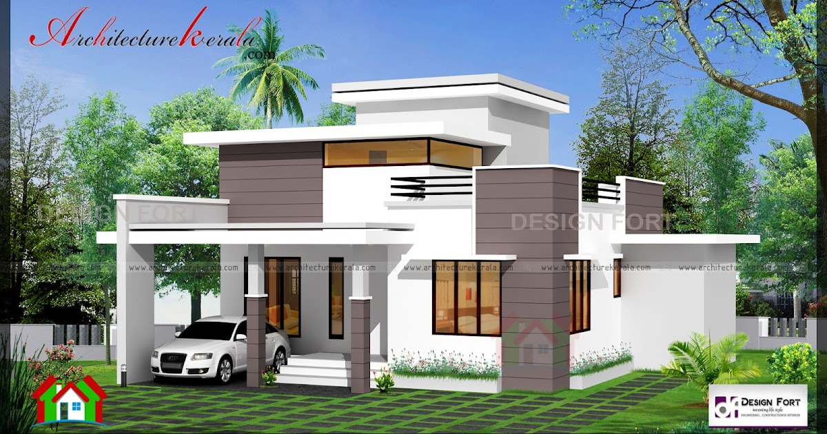 1000 square feet 2 bed house plan and elevation for Kerala home plan and elevation 1000 sq ft