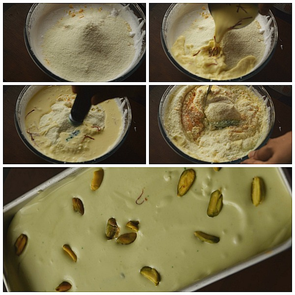 Step by Step Pictures of how to make Pistachio Kesar Ice Cream(Kesar Pista IceCream) 1