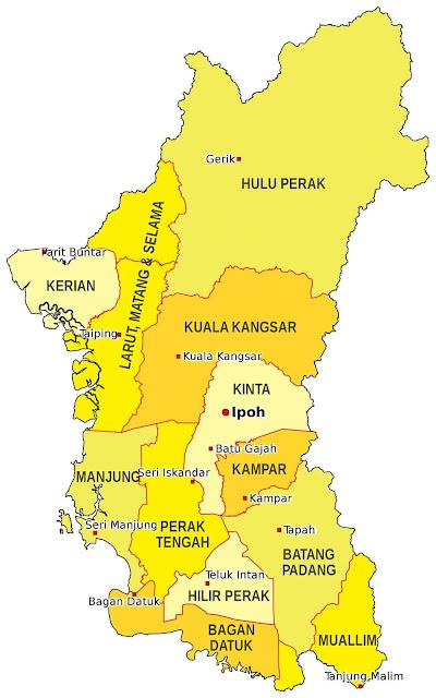 Peta : Kedudukan Pekan Batu Gajah Perak