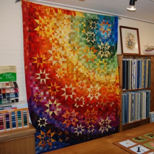 Rainbow Quilt by Wilma Karels