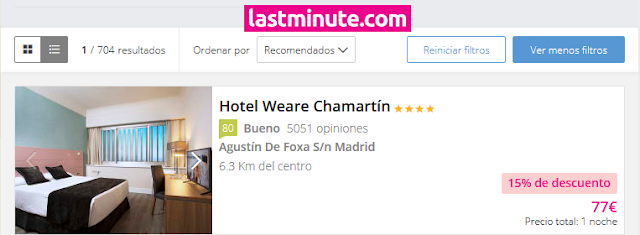 lastminute oferta hotel weare chamartin
