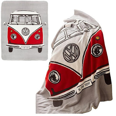Volkswagen Campervan Throw Blanket