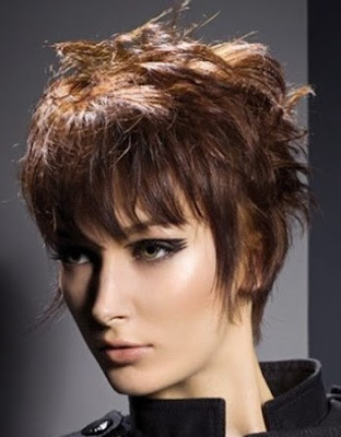 short haircut that lengthens the neck