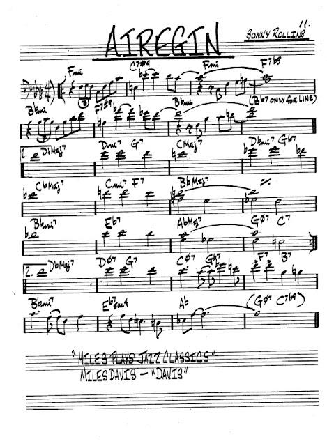 Partitura Trombón Sonny Rollins