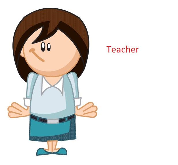 Cartoon Teacher do PowerPoint Presentation using free ppt templates