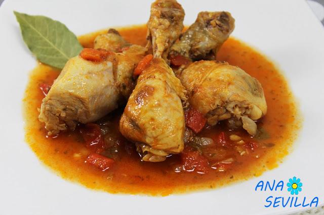 Pollo con tomate olla GM
