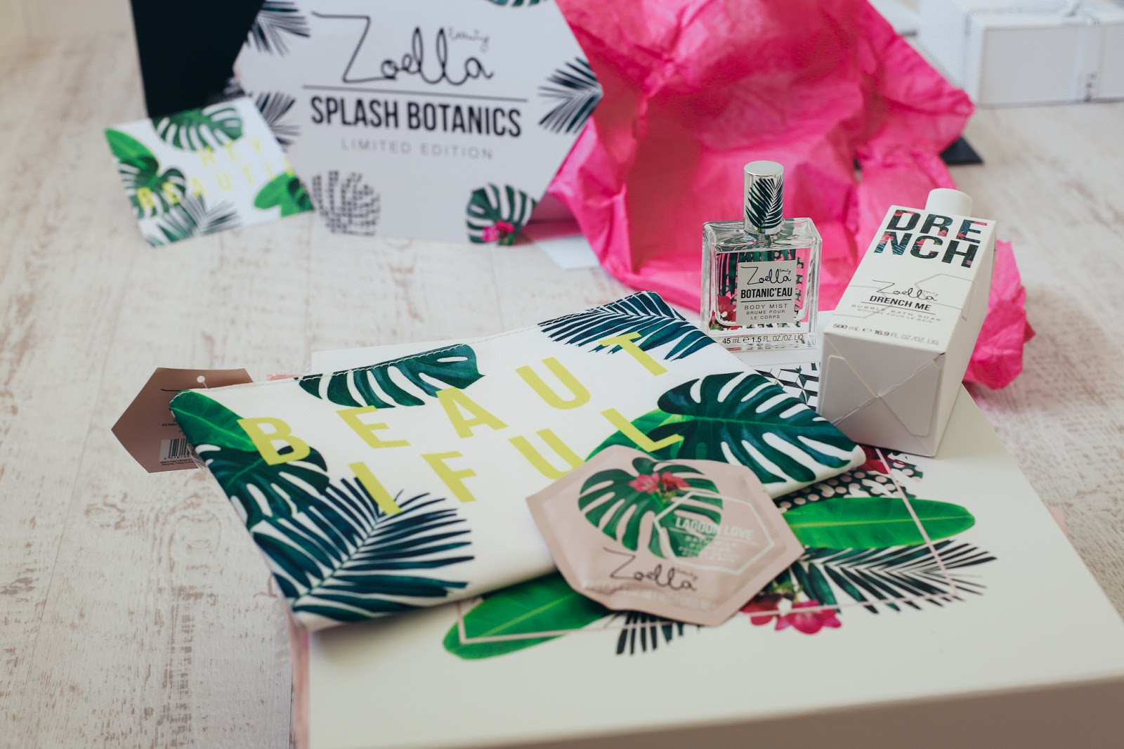 Zoella Splash Botanics Beauty Range